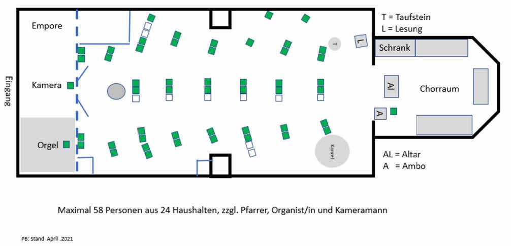 Sitzplan Spitalkirche April 2021